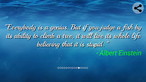 quote einstein everyone is a genius quote collection android apps on google play