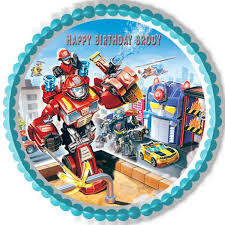 transformers cake toppers transformers rescue edible cake or cupcake topper edible prints