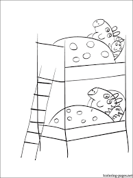 peppa pig and george pig coloring page coloring pages