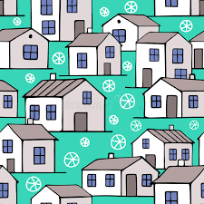 chambres bleues chambres bleues gentilles d hiver réglées illustration de vecteur