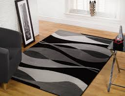 Black Modern Rugs Black And Gray Area Rugs To Enhance The Of Your Home Floor
