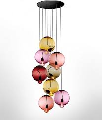 multi colored hanging lights baloon shaped glass shade multi colored pendant lights strong wire