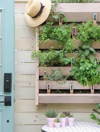 Diy Herb Garden Vertical Garden Makeover Diy Herb Markers