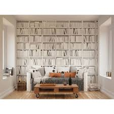 wall murals mural wallpaper library white wall mural