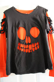 Halloween Shirts For Babies by Recycled Skull T Shirt Tutorial Laura Irrgang