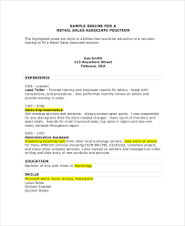 Inventory Resume Examples by Sales Associate Resume Sales Associate Resume Samples Topcar
