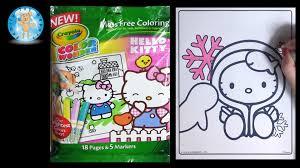 crayola color wonder hello kitty coloring book snowflake family