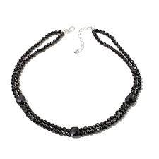 hsn black friday jay king 2 strand black agate bead sterling silver 20