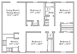 floor plans for a 4 bedroom house 4 bedroom 4 bath house plans biggreen club