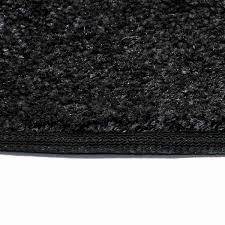 flame 4 u0027 half round polyester fireplace rug black northline