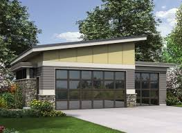 apartments shed roof house plans plan am contemporary garage