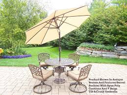 Patio Dining Sets With Umbrella Patio Table Sets With Umbrella