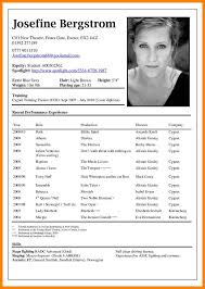 Resume For Theater Theater Resume Format Consultant Acting Resume Format Child