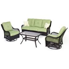 Hanover Patio Furniture Amazon Com Hanover Orleans4pcsw Orleans 4 Piece Outdoor Lounging