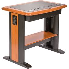 All Wood Computer Desk Standing Computer Desk Petite Caretta Workspace