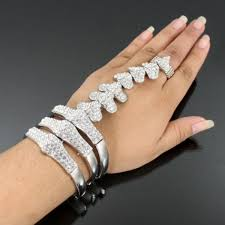 ring cuff bracelet images Encrust cuff bracelet connected ring jpg