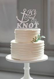 wedding cake toppers theme wedding anchor cake topper the knot quote for
