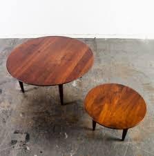 vintage mid century modern coffee table mid century modern coffee table set solid walnut ace hi prelude