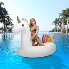 3 BEES Giant Inflatable Unicorn Pool Floats Best Swimming