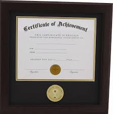 certificate frame of excellence 8 inch by 10 inch certificate frame mahogany