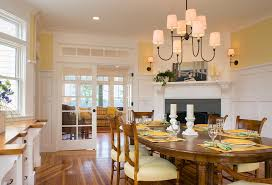 butter yellow paint dining room victorian with wood floors oval