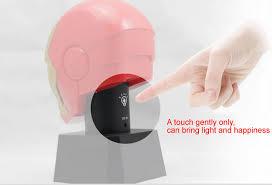 Iron Man Night Light Talking Iron Man Mask Led Night Light With Piggy Bank Feelgift