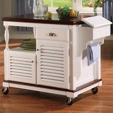 Kitchen Movable Island by Kitchen Rolling Island Cart Kitchen Cart With Trash Bin