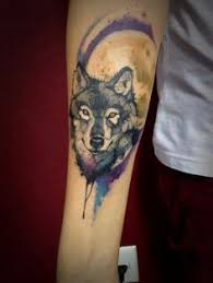 amazing watercolor wolf tattoo big easy tattoos at wentzville
