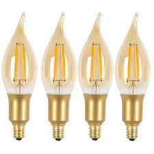 dimmable led light bulbs 40w equivalent soft white 2200k vintage edison candelabra dimmable