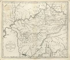 Map Of Kentucky Counties Map Of The State Of Kentucky With The Adjoining Territories 1795