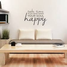 Wall Quotes For Living Room by Take Time Wall Quote Decal Wallums