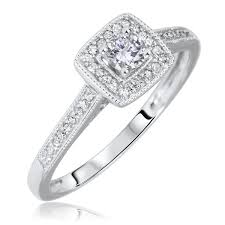 10k wedding ring 1 3 ct t w cut bridal wedding ring set 10k