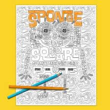 spongebob coloring page nickelodeon parents
