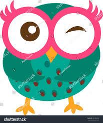 happy owl cartoon vector stock vector 307893842 shutterstock