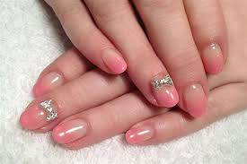pink glitter ombre 3d bows nail art gallery