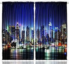 Manhattan Curtains New York City Manhattan Skyline At Skyscrapers