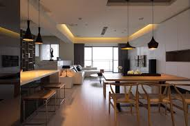 Open Plan Kitchen Living Room Flooring A Letterbox Of Light Flanks The Dining Place Creating Ambient