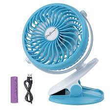 battery operated fan operated clip on fan for baby stroller car back seat laptop travel