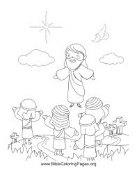 coloring page of jesus ascension ascension coloring page