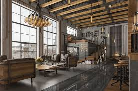 industrial modern design loft living room design with modern industrial style roohome modern