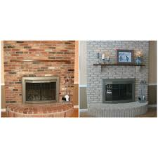 fireplace paint kit lighten briighten old brick fireplaces