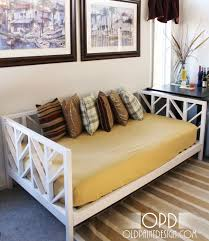 attractive diy daybed frame the adorable of diy daybed idea home