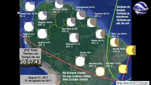 Google Maps South America by South America August 2017 Solar Eclipse Animation Youtube