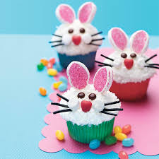 Easter Decorations For Cupcakes bunny face cupcakes recipe myrecipes