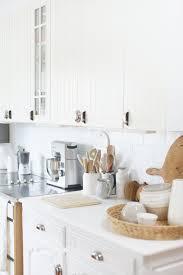white kitchen subway tiles beach cottage style life by the sea