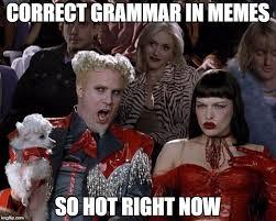 Correct Grammar Meme - correct grammar in memes so hot right now meme