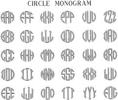 initial monograms letter styles personalized engraved gifts with free shipping and