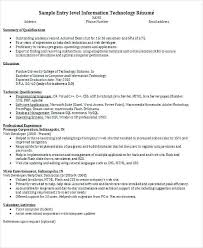 information technology resume template information technology resumes technical skills to list on resume