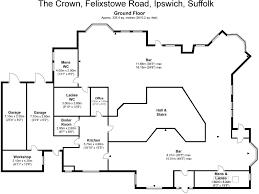 Crown Hall Floor Plan Restaurant For Sale In The Crown Felixstowe Road Ipswich Ip3