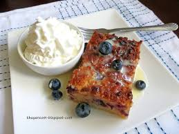blog of salt blueberry bread pudding w condensed milk sauce